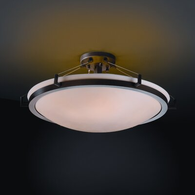 Thora Transitional 6-Light Semi Flush Mount Impression: Smooth, Finish: Dark Bronze