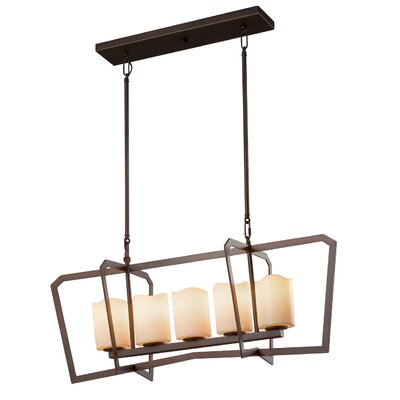 Wantage 5-Light Kitchen Island Pendant Finish: Brushed Nickel