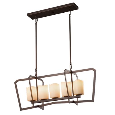 Wantage 5-Light LED Kitchen Island Pendant Finish: Matte Black