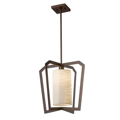 Salaam 1-Light Foyer Pendant Base Finish: Dark Bronze