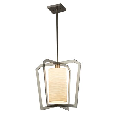 Salaam 1-Light Foyer Pendant Base Finish: Matte Black