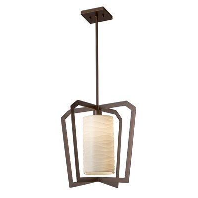 Salaam 1-Light LED Foyer Pendant Finish: Dark Bronze