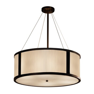 Salaam LED Drum Pendant Base Finish: Matte Black