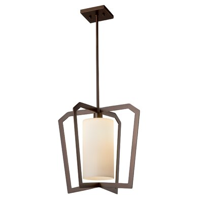 Luzerne 1-Light Foyer Pendant Finish: Matte Black