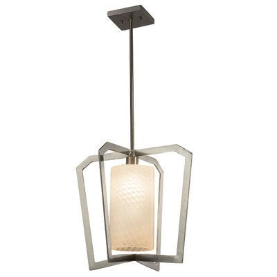 Luzerne 1-Light LED Foyer Pendant Finish: Matte Black