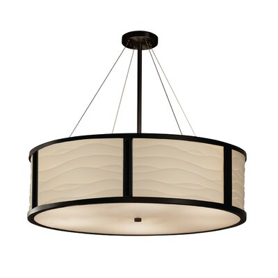 Salaam Drum Pendant Base Finish: Matte Black