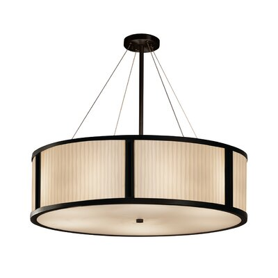 Salaam 6-Light Drum Pendant Base Finish: Matte Black