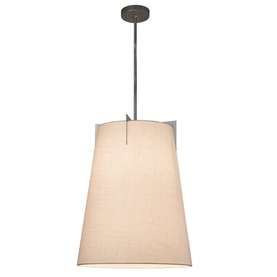 Kenyon 2-Light Tapered Pendant Shade Color: Cream, Finish: Brushed Nickel