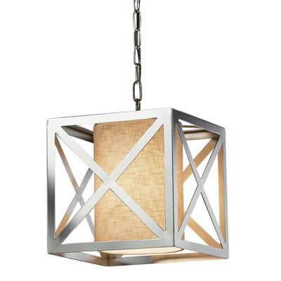 Kenyon Foyer Pendant Base Finish: Polished Chrome, Shade Color: Cream
