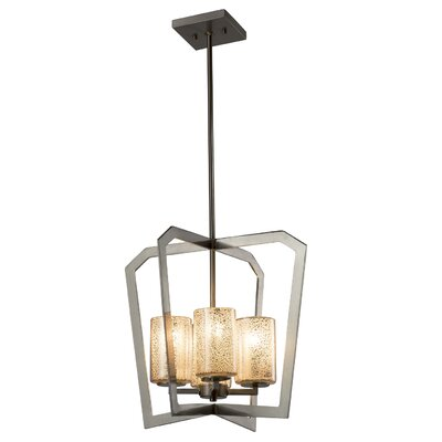 Luzerne 4-Light LED Foyer Pendant Base Finish: Brushed Nickel