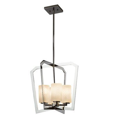 Luzerne 4-Light Foyer Pendant Base Finish: Matte Black