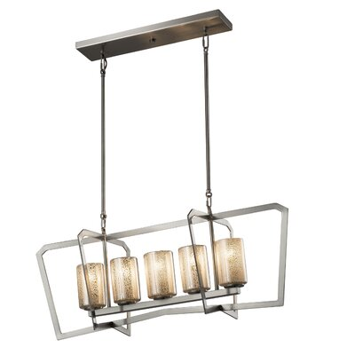 Luzerne 5-Light Kitchen Island Pendant Base Finish: Matte Black