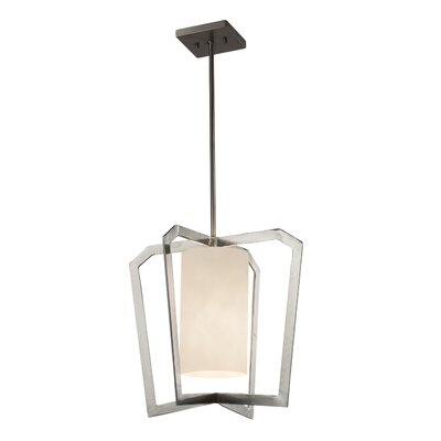 Genaro 1-Light LED Foyer Pendant Finish: Brushed Nickel