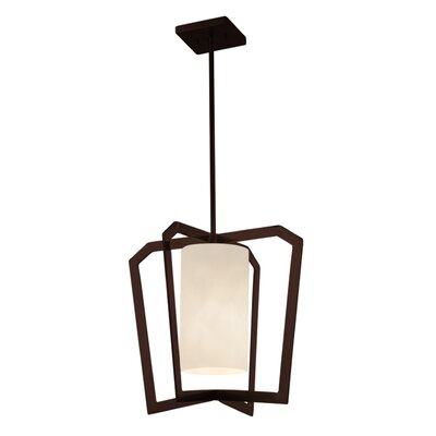 Genaro 1-Light LED Foyer Pendant Finish: Dark Bronze