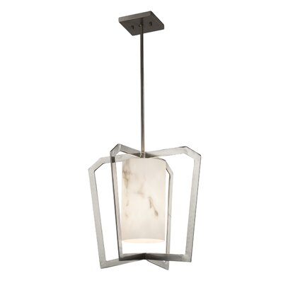 Keyon 1-Light Foyer Pendant Base Finish: Brushed Nickel