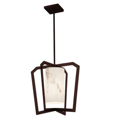 Keyon 1-Light LED Foyer Pendant Base Finish: Dark Bronze