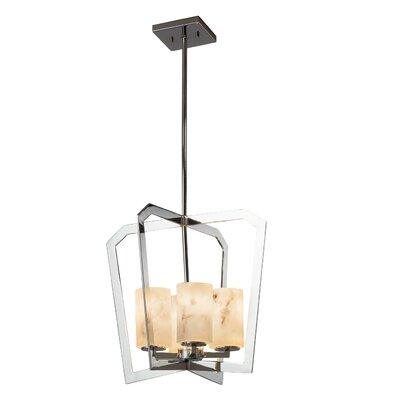 Keyon 4-Light Foyer Pendant Base Finish: Brushed Nickel