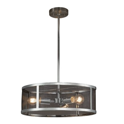 Bennett 3-Light Drum Pendant Finish: Polished Chrome