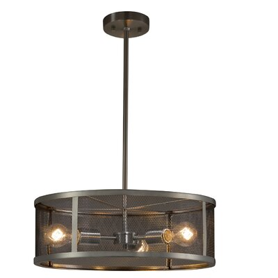 Bennett 3-Light Drum Pendant Finish: Dark Bronze