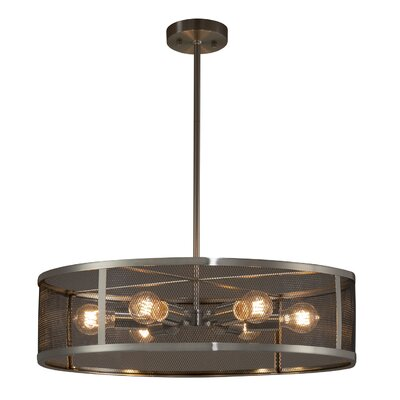 Bennett 6-Light Drum Pendant Finish: Brushed Nickel