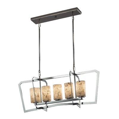 Conovan 5-Light Kitchen Island Pendant Finish: Brushed Nickel