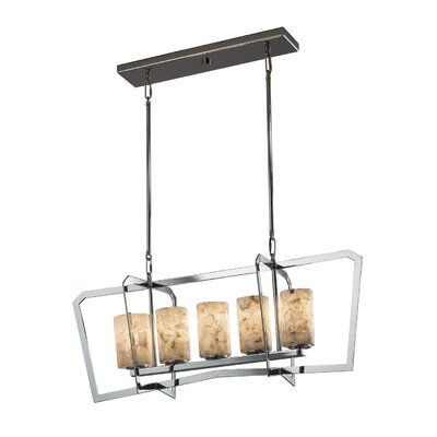 Conovan 5-Light Kitchen Island Pendant Finish: Matte Black