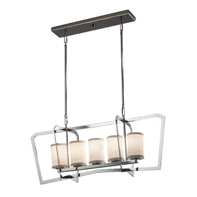 Kenyon 5-Light Kitchen Island Pendant Finish: Matte Black