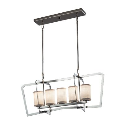 Kenyon 5-Light LED Kitchen Island Pendant Finish: Brushed Nickel