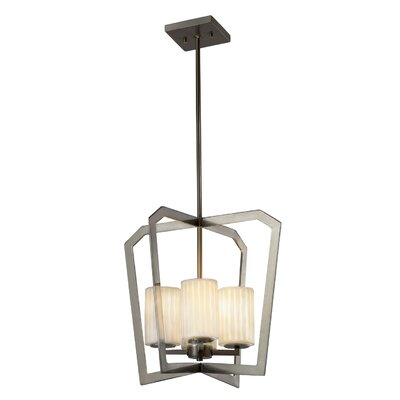 Darrien 4-Light Foyer Pendant Base Finish: Matte Black