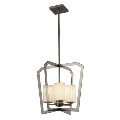 Darrien 4-Light Foyer Pendant Base Finish: Dark Bronze
