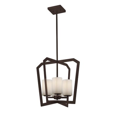 Darrien Intersecting 4-Light 36W Foyer Pendant Finish: Dark Bronze