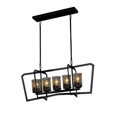 Crosland 5-Light LED Kitchen Island Pendant Finish: Matte Black