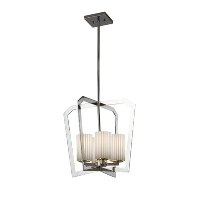 Darrien Intersecting 4-Light 36W Foyer Pendant Finish: Polished Chrome