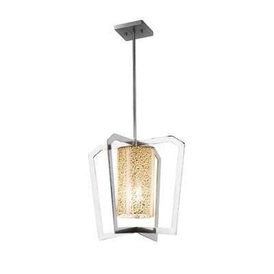 Luzerne Intersecting 1-Light LED Foyer Pendant Finish: Dark Bronze