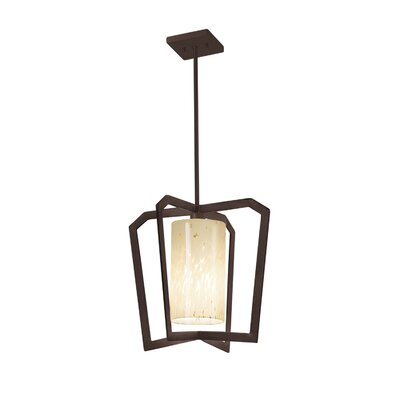 Luzerne 1-Light Intersecting Foyer Pendant Finish: Dark Bronze