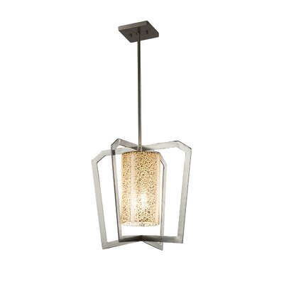 Luzerne Intersecting 1-Light Foyer Pendant Finish: Matte Black