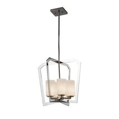 Genaro 4-Light Intersecting Foyer Pendant Finish: Matte Black
