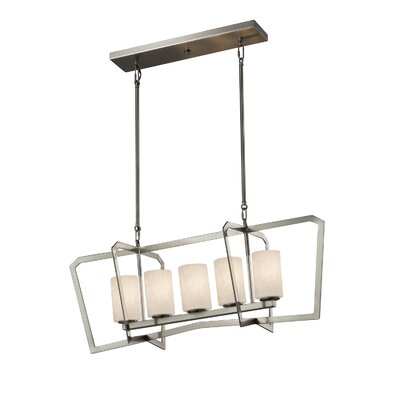 Genaro Intersecting 5-Light Kitchen Island Pendant Finish: Brushed Nickel