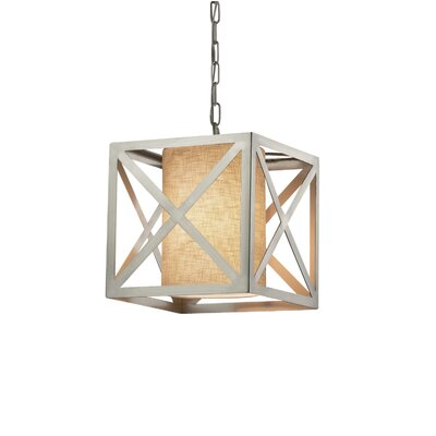 Kenyon Foyer Pendant Finish: Brushed Nickel, Shade Color: White