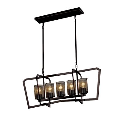 Crosland 5-Light LED Kitchen Island Pendant Finish: Dark Bronze