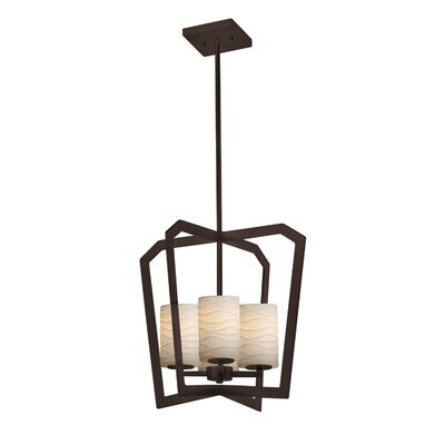 Darrien 4-Light Intersecting 4-Light Foyer Pendant Finish: Dark Bronze