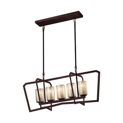 Luzerne 5-Light Kitchen Island Pendant Base Finish: Dark Bronze