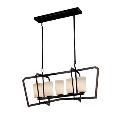 Genaro Intersecting 5-Light Kitchen Island Pendant Finish: Dark Bronze