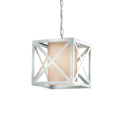 Kenyon Foyer Pendant Finish: Polished Chrome, Shade Color: White