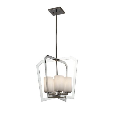 Luzerne Intersecting 4-Light Foyer Pendant Finish: Polished Chrome