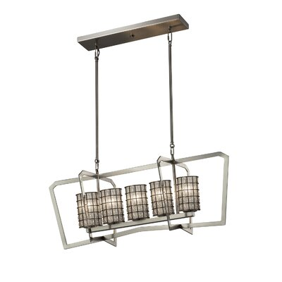 Bennett Intersecting 5-Light Kitchen Island Pendant Finish: Brushed Nickel