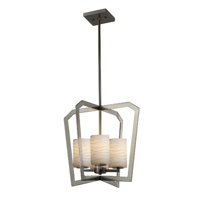 Darrien 4-Light Intersecting 4-Light Foyer Pendant Finish: Brushed Nickel