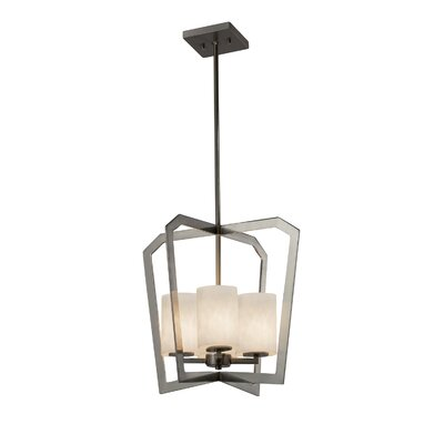 Genaro Intersecting 4-Light Foyer Pendant Finish: Brushed Nickel