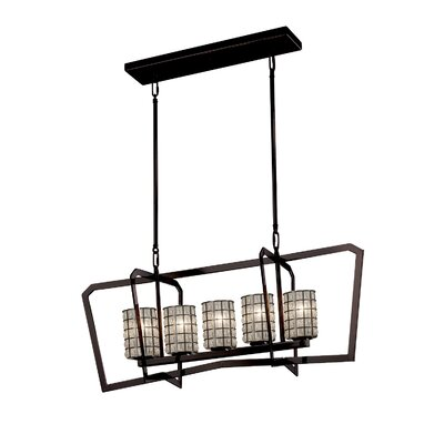 Bennett Intersecting 5-Light Kitchen Island Pendant Finish: Dark Bronze