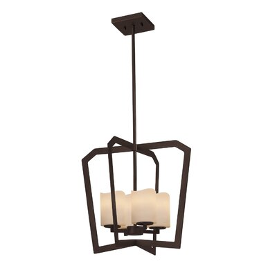 Wantage 4-Light Intersecting Foyer Pendant Finish: Matte Black